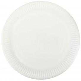 Talerz Papierowe Białe Ø23 cm (50 Sztuk)