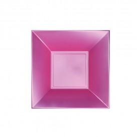Plato de Plastico Hondo Rosa Nice Pearl PP 180mm (300 Uds)