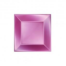 Plato de Plastico Llano Rosa Nice Pearl PP 180mm (25 Uds)