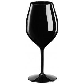 Kieliszki Wielokrotnego Użytku na Wino Tritan Czarni 510ml (1 Sztuk)