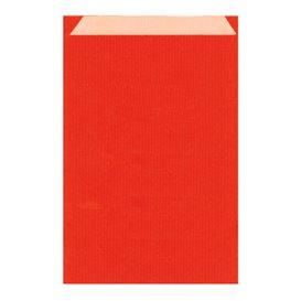 Koperty Papierowe Kraft Czerwerne 12+5x18cm (125 Sztuk)