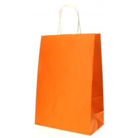 Torby Papierowe Orange z Uchwytami 80g 20+10x29 cm (200 Sztuk)