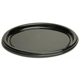 Talerz Plastikowe Okrągłe Czarni 18 cm (250 Sztuk)