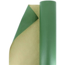 Paper Roll of Gift Wrap Kraft Green 100m (1 Unit)