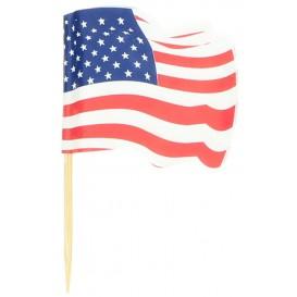"""Wykałaczki z Flagami """"USA"""" 65mm (14.400 Sztuk)"""