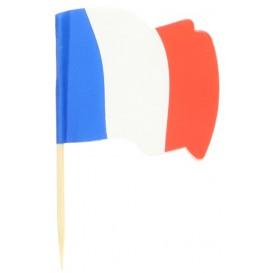 """Wykałaczki z Flagami """"Francia"""" 65mm (14.400 Sztuk)"""