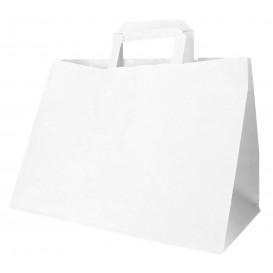 Miski Papierowe Białe z Uchwytami Płaskis 70g 32+20x23cm (250 Sztuk)