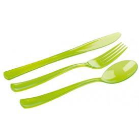Kit Sztućców Plastikowe Widelczyki, Nóż, Łyżka Zielone (20 Kits)