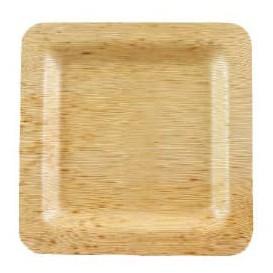 Talerz Kwadratowi Bambusowe 12x12x1cm (10 Sztuk)