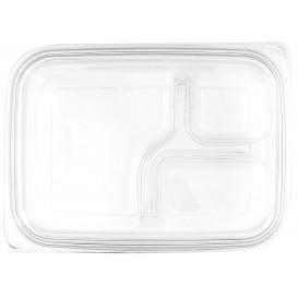 Wieczko Płaskie Plastikowe dla Pojemniki PET 22x16cm (75 Sztuk)