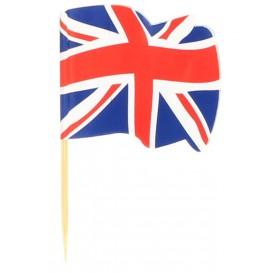 """Wykałaczki z Flagami """"UK"""" 65mm (14.400 Sztuk)"""