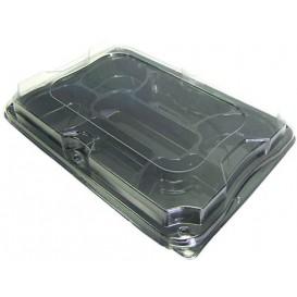 Tacki Plastikowe Czarni 7C z Pokrywką PET 35x24cm (5 Sztuk)