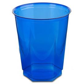 Kubki Plastikowe Hexagonalny PS Szkło Niebieski 250ml (10 Sztuk)