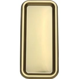 Tacki Plastikowe Prostokątny Złote 35x16cm (50 Sztuk)