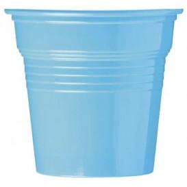 Kubki Plastikowe PS Niebieski Światło 80ml Ø5,7cm (50 Sztuk)