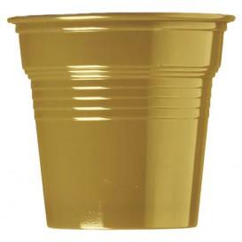 Kubki Plastikowe PS Złote 80ml Ø5,7cm (750 Sztuk)