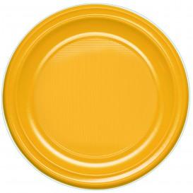 Talerz Plastikowe PS Płaski Mango 220 mm (30 Sztuk)