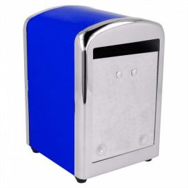 Dozownik Mini Serwis Stal Niebieski 10,5x9,7x14cm (12 Sztuk)