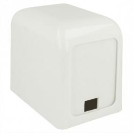 Dozownik Mini Serwis Plastikowe Białe 15x10x12,5cm (12 Sztuk)