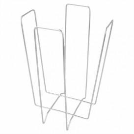 Serwetnik Drut Srebro 22x22x18cm (12 Sztuk)