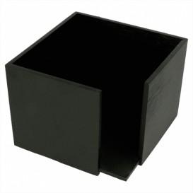 Serwetnik Koktajl Bambusowe Czarni 13,5x13,5x10cm (12 Sztuk)
