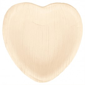 Talerz Serce Liści Palmowych 10x10x1,5cm (25 Sztuk)
