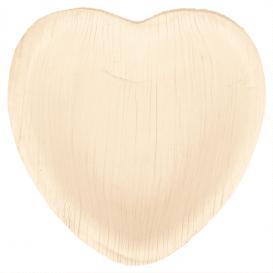 Talerz Serce Liści Palmowych 10x10x1,5cm (200 Sztuk)