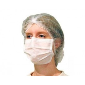 Maska Ochronna Prostokątny z Gumką TST Białe 2C (1000 Sztuk)