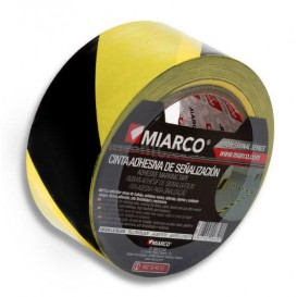 Adhesive Safety Tape Roll Yellow/Black 5cmx33m (1 Unit)