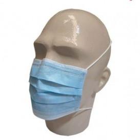 Maska Ochronna Prostokątny z Gumką TST Niebieski 3C (50 Sztuk)