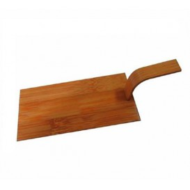 Mini Łopata Bambusowe Naturalne z Pokrywką 10x5 cm (400 Sztuk)
