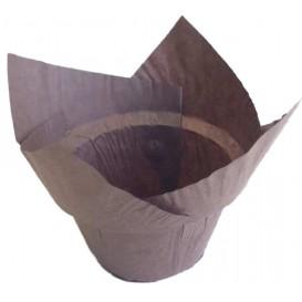 Formy do Muffinek Tulipan Step Ø50x55/85 mm Brązowe (2280 Sztuk)