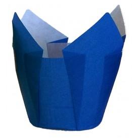 Formy do Muffinek Tulipan Ø50x50/80 mm Niebieski (125 Sztuk)