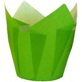 Formy do Muffinek Tulipan Ø50x50/80 mm Zielone (125 Sztuk)