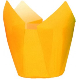 Formy do Muffinek Tulipan Ø50x50/80 mm Żółty (2000 Sztuk)