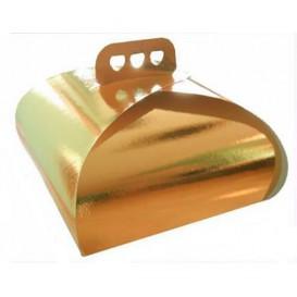Pudełka Kartonowe na Ciastos Złote Lasso 27,5x27,5x14 cm (100 Sztuk)