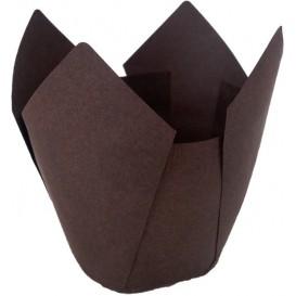 Formy do Muffinek Tulipan Ø50x55/80 mm Brązowe (175 Sztuk)