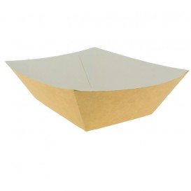 Tacki Łódki Papierowe 525ml Kraft 12,2x8x5,5cm (600 Sztuk)