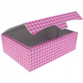 Pudełka Cukiernicze Kartonowe 25,8x18,9x8cm 2Kg Różowe (25 Sztuk)