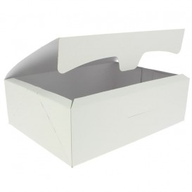 Pudełka Cukiernicze Kartonowe 25,8x18,9x8cm 2Kg Białe (25 Sztuk)