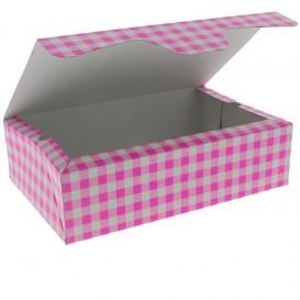 Pudełka Cukiernicze Kartonowe 17,5x11,5x4,7cm 250g Różowe (20 Sztuk)