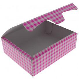 Pudełka Cukiernicze Kartonowe 20,4x15,8x6cm 1kg Różowe (20 Sztuk)