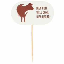 Well Done Food Marker 8 cm (100 Units)