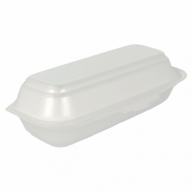Foam Hot Dog Container White 2,10x1,05x0,64cm (500 Units)