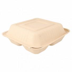 Opakowania MenuBox Trzciny Cukrowej 3C Naturalne 20x20x7,5cm (50 Sztuk)