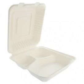 Opakowania MenuBox Trzciny Cukrowej 3C Białe 20x20x7,5cm (200 Sztuk)