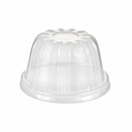 Plastic Dome Lid PS Clear Ø8,9cm (1000 Units)