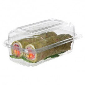 Clamshell Deli Container PLA 23,0x15,0x7,5cm (80 Units)