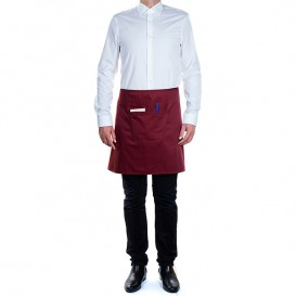 Serving apron pocket Burgundy 75x50cm (1 Unit)