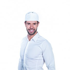 Cap with Mesh Cotton White (25 Units)